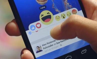 Client - Facebook launches reaction buttons beyond 'like' to become more expressive