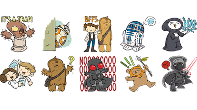 Client - Facebook introduces cartoon Star Wars stickers to Messenger