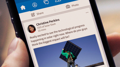 Client - LinkedIn just gave its flagship app a major facelift