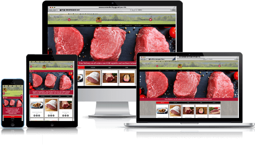 Durnin Butchers eCommerce web design web site.