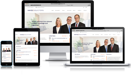 Hayes Solicitors responsive web design web site