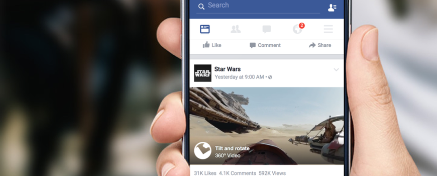 Facebook Video Ads with a VR-Style 360 degree twist