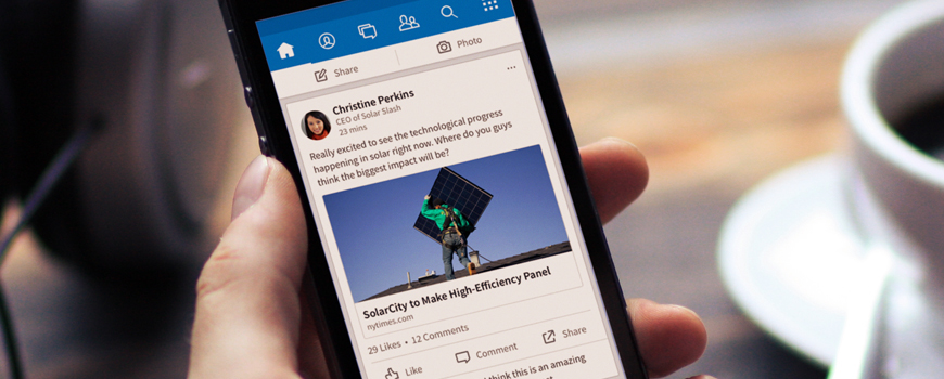 LinkedIn just gave its flagship app a major facelift